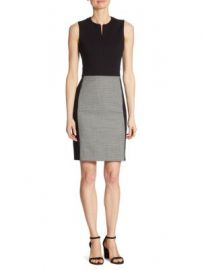 Akris punto - Houndstooth Panel Sheath Dress at Saks Fifth Avenue