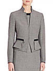 Akris punto - Wool Peplum Jacket at Saks Fifth Avenue