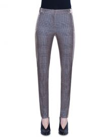 Akris punto Fabia Metallic Glen Checked Jersey Pants at Neiman Marcus