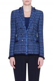 Akris punto Fringe Tweed Blazer   Nordstrom at Nordstrom