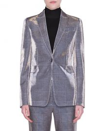 Akris punto Metallic Glen Check Jacket at Neiman Marcus