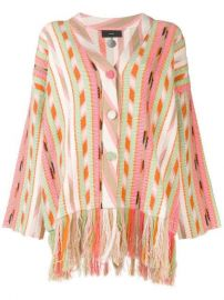 Alanui Striped Fringed Cardigan - Farfetch at Farfetch