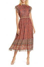 Alastair Jacquard Dot Silk Blend Midi Dress at Nordstrom