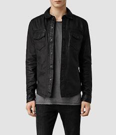 Alberton Leather Shirt at All Saints