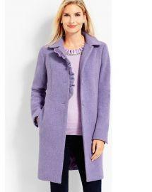 Albury Wool Ruffle Coat by Talbots at Talbots