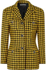 Alessandra Rich - Houndstooth wool-blend tweed jacket at Net A Porter