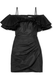 Alessandra Rich - Ruffled silk-blend taffeta mini dress at Net A Porter