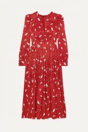 Alessandra Rich - Silk-jacquard midi dress at Net A Porter