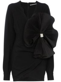 Alessandra Rich Bow Embellished Crepe De Chine Mini Dress - Farfetch at Farfetch