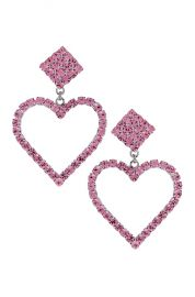 Alessandra Rich Heart Earrings in Pink   FWRD at Forward