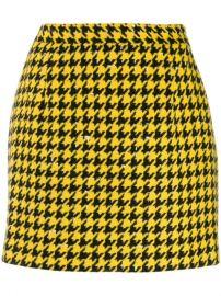 Alessandra Rich Houndstooth Print Skirt - Farfetch at Farfetch