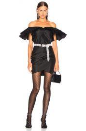 Alessandra Rich Silk Taffeta Butterfly Dress in Black   FWRD at Forward