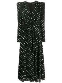 Alessandra Rich polka dot tea dress polka dot tea dress at Farfetch