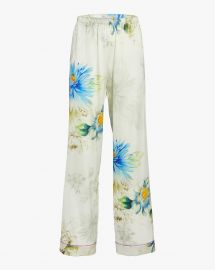 Alessia Floral Silk Satin Pants by Adriana Iglesias at Moda Operandi