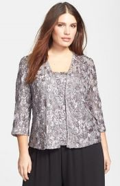 Alex Evenings Rosette Twinset at Nordstrom