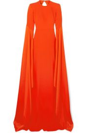 Alex Perry - Abigail open-back crepe gown at Net A Porter