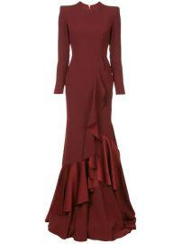 Alex Perry Structured Shoulder Ruffle Dress - Farfetch at Farfetch