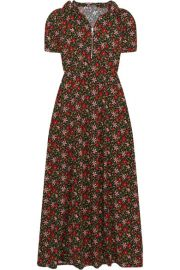 Alexa Chung Hooded floral-print crepe maxi dress at Net A Porter