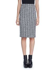 Alexander McQueen Lightweight Tweed Pencil Skirt  at Neiman Marcus