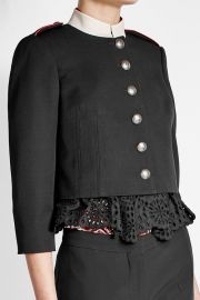 Alexander McQueen Military Jacket at Stylebop