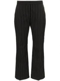 Alexander McQueen Pinstriped Flared Trousers - Farfetch at Farfetch