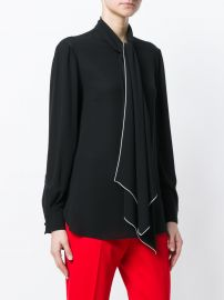 Alexander McQueen Tied Neck Blouse  1 075 - Buy SS18 Online - Fast Global Delivery  Price at Farfetch