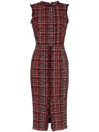 Alexander McQueen Tweed Midi Dress - Farfetch at Farfetch