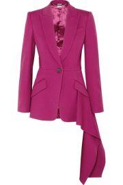 Alexander McQueen - Asymmetric wool-blend blazer at Net A Porter