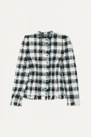 Alexander McQueen - Checked boucl  -tweed blazer at Net A Porter