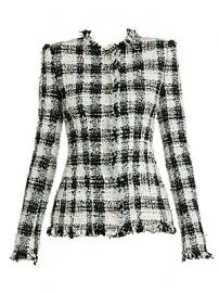 Alexander McQueen - Collarless Tweed Jacket at Saks Fifth Avenue