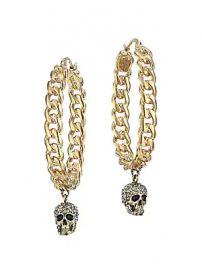 Alexander McQueen - Crystal Skull Hoop Earrings at Saks Fifth Avenue