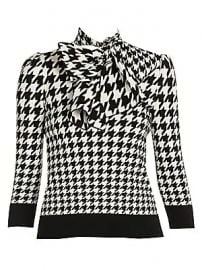 Alexander McQueen - Dogtooth Jacquard Knit Top at Saks Fifth Avenue