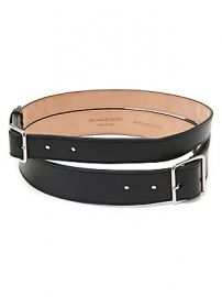 Alexander McQueen - Double Leather Belt at Saks Fifth Avenue