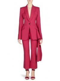 Alexander McQueen - Drape-Detail One-Button Blazer at Saks Fifth Avenue