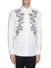 Alexander McQueen - Embroidered Leaves Button-Down Shirt at Saks Fifth Avenue