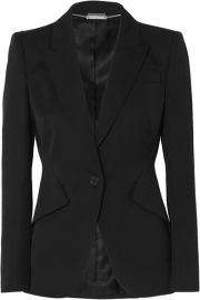 Alexander McQueen - Grain de poudre wool blazer at Net A Porter