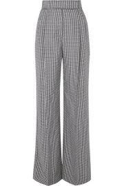 Alexander McQueen - Houndstooth wool wide-leg pants at Net A Porter