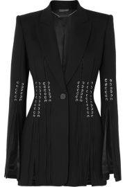 Alexander McQueen - Lace-up grain de poudre blazer at Net A Porter