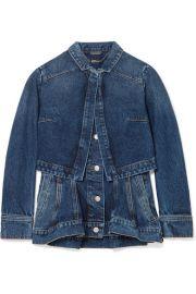Alexander McQueen - Layered denim peplum jacket at Net A Porter