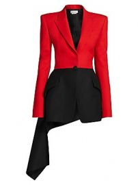Alexander McQueen - Military Draped Wool-Blend Jacket at Saks Fifth Avenue