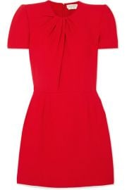 Alexander McQueen - Ruched crepe mini dress at Net A Porter