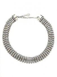 Alexander McQueen - Swarovski Crystal Tubular Choker Necklace at Saks Fifth Avenue