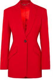 Alexander McQueen - Wool-blend blazer at Net A Porter