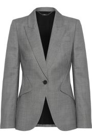 Alexander McQueen - Wool-jacquard blazer at Net A Porter