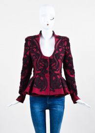 Alexander McQueen Brocade Peplum Jacket at LGS