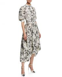 Alexander McQueen Cabinet Of Shells Short-Sleeve Dress at Neiman Marcus