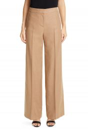 Alexander McQueen Camel Hair Wide Leg Pants   Nordstrom at Nordstrom