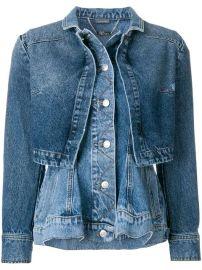 Alexander McQueen Denim Peplum Jacket - Farfetch at Farfetch