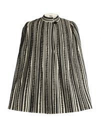Alexander McQueen Embroidered wool-blend cape at Matches