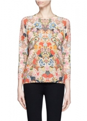 Alexander McQueen Floral Embroidery Print Sweater at Lane Crawford